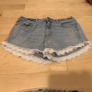 Free People Shorts with Lace Detail